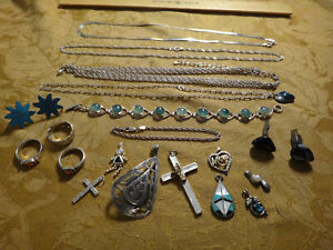 Antique Store Sell Off 100 Gram Sterling Silver Jewelry Lots Not Scrap 8
