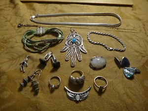 Antique Store Sell Off 100 Gram Sterling Silver Jewelry Lots Not Scrap 11