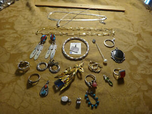 Antique Store Sell Off 100 Gram Sterling Silver Jewelry Lots Not Scrap 14