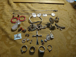 Antique Store Sell Off 100 Gram Sterling Silver Jewelry Lots Not Scrap 21