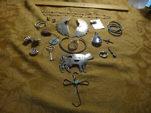 Antique Store Sell Off 100 Gram Sterling Silver Jewelry Lots Not Scrap 25