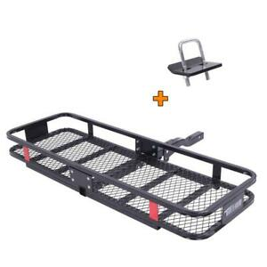 500 Lb Hitch Cargo Carrier Luggage Hauler Storage Rack Basket 2 Receivers