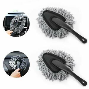 2 Pack Super Soft Microfiber Car Dash Duster Detail Brush Set Cleaning Wash Tool