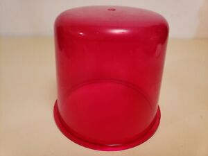 Nos Vintage Emergency Red Beacon Light Lens police emergency Fire