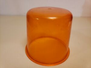 Nos Vintage Emergency Amber Beacon Light Lens police emergency Fire