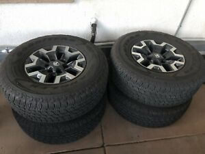 A Set Of 2018 Toyota Tacoma Stock Wheels And Tires