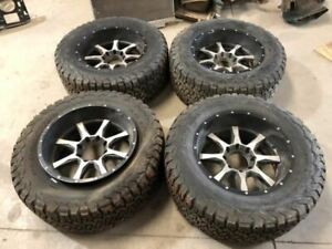 96 Ford F350 Used Set Of 4 Aftermarket 20x10 Wheels Rims W Tires See Photos