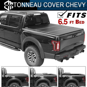Hard Solid Trifold Tonneau Cover For Chevy Silverado Sierra 1500 6 5ft Bed Cover