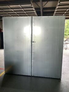 8x8x12 Full Welded Tube Gas Powder Coating Batch Oven Booth Free Shipping
