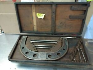 Antique Brown Sharpe 14 Piece Caliper Set In Original Wooden Case