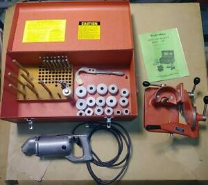 Kwik Way Sgh Valve Seat Grinder Set Like New With Tooling Great Condition