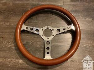 Vintage Dinos 350mm Wood Steering Wheel Jdm Nardi Momo