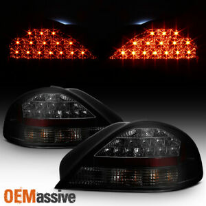 Fits 99 05 Pontiac Grand Am Se Gt Black Smoked Led Tail Brake Lights Left right