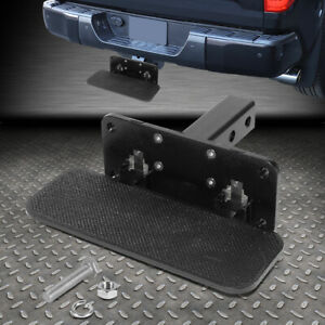 For 2 Receiver Heavy Duty Aluminum Tow Trailer Folding Hitch Step Board Black