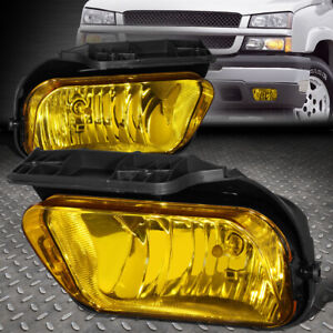 For 04 07 Chevy Silverado 1500 2500 3500 Hd Amber Lens Bumper Fog Light Lamps
