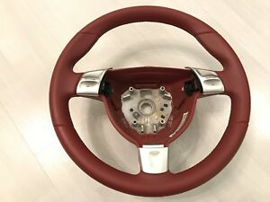 Steering Wheel Original Porsche Red Color Oem 997 911 Turbo With Gear Shifter