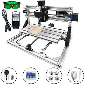 3 Axis Cnc Router Kit 3018 2500mw Injection Molding Material Engraver T8 Screw