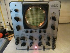 Vintage Hickok Faa Vhf Oscilloscope Type Fa 5496 Powers Up Pick up Only