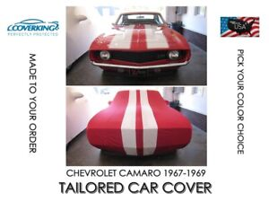 Coverking Satin Stretch Indoor Tailored Car Cover For 1967 1969 Chevy Camaro