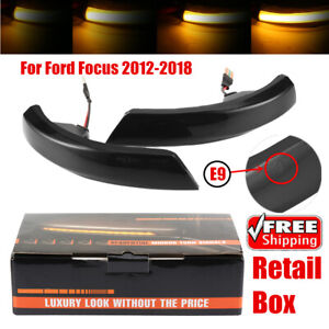 Set Dynamic Door Wing Mirror Led Indicator Light For Ford Focus 2012 2018
