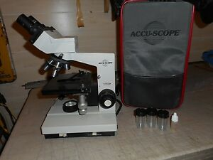 Accu scope Holegen Microscope With Case Extra s Please Examine