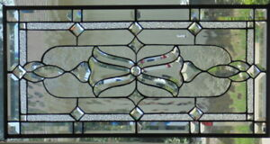 Stained Glass Transom Window Hanging 30 X 15 1 2