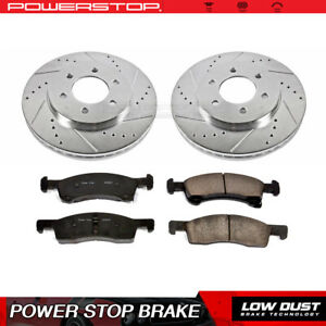Front Drilled Slotted Brake Rotors Ceramic Pads For 2003 2006 Ford Expedition