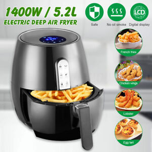 5 5qt Electric Deep Air Fryer Led Touch Screen Cooking Equipment Home Kitchen