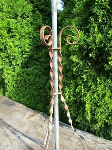 Antique 53 Copper Lightning Rod W Barley Twist Stand Barn Architectural Piece