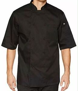 Chef Works Montreal Cool Vent Chef Coat Short Sleeve Large Black Or White