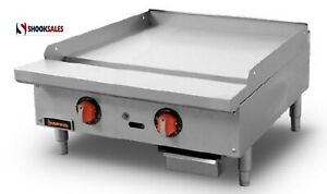 Sierra Srtg 24 Thermostatic Griddle Natural Gas Countertop 24 w 2x Burners