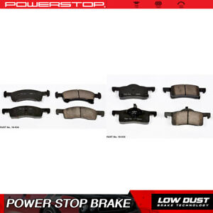 Power Stop Front Rear Clean Ceramic Brake Pads For 2003 2006 Ford Expedition
