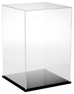 Plymor Clear Acrylic Display Case With Black Base 10 W X 10 D X 15 H