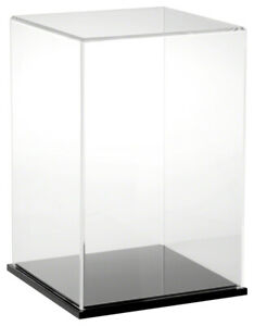 Plymor Clear Acrylic Display Case With Black Base 8 W X 8 D X 12 H