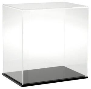 Plymor Clear Acrylic Display Case With Black Base 12 W X 8 D X 12 H