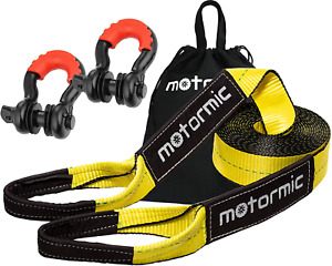 Motormic Tow Strap Recovery Kit 20 Ft X 3 In 30 000 Lbs Tow Rope 3 4 D
