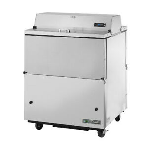 True Tmc 34 s ds ss hc Forced Air Dual Sided Stainless Steel Mobile Milk Cooler
