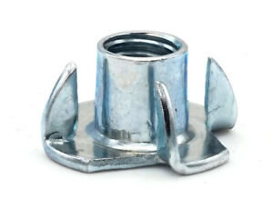 T Nut Zinc Plated Steel Tee Nuts 4 Prong 3 Prong Barrel Nuts 6 32 3 8 16