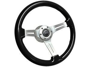 1968 1973 Mercury Cougar Mahogany Black Ash Wood Steering Wheel Brushed Kit