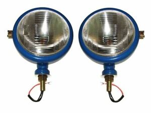 Hi lux Ford Tractor Head Light Set lh Rh 12v Blue Colour usa