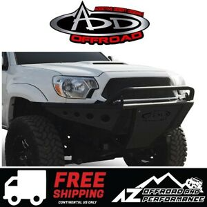Add Stealth Front Bumper Tube Black For 2005 2015 Toyota Tacoma