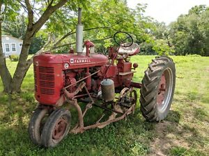 Farmall Super C Tractor With Implements