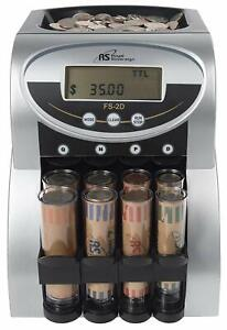 Royal Sovereign 2 Row Electric Coin Counter W Digital Counting Display fs 2d