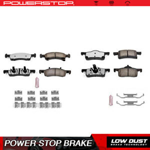 Power Stop Front Rear Carbon Ceramic Brake Pads For 2003 2006 Ford Expedition