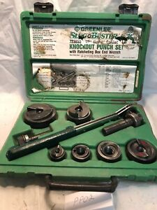 Greenlee 7238sb Slug Buster Knockout Punch Set 1 2 2 Conduit W case Pp02