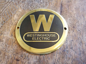 Westinghouse Fan Medallion Acid Etched Brass Data Plate