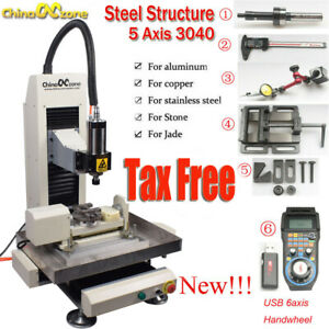 Newest Cnc 5axis 2 2kw 3040 Steel Metal Router Engraving Milling cutting Machine