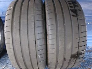 2 Michelin Pilot Sport 4 S 255 35 Zr19 With 6 25 32nd Tread Left 96 Y