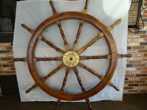 Wood Ship S Helm Vintage Made Into Dinning Table 72