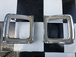 69 Plymouth Roadrunner Gtx Satellite Tail Light Bezels Original Chrysler Part